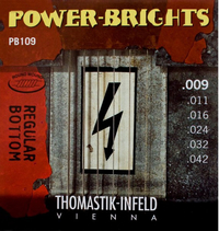 Купить Power-Brights Regular Bottom Комплект струн для электрогитары, 9-42, Thomastik PB109 по лучшей цене