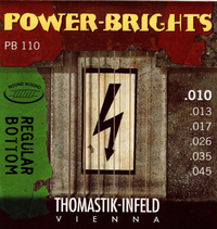 Купить Power-Brights Regular Bottom Комплект струн для электрогитары, 10-45, Thomastik PB110 по лучшей цене