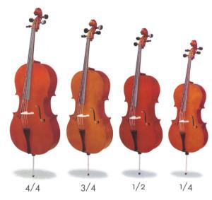 Размеры виолончели